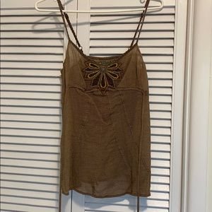 Free People Vintage Beaded Flower Tank